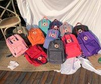 sırt çantası kanvas toptan satış-Toptan sırt çantası Yüksek kaliteli tuval okul çantası çift omuz çantaları erkekler ve kadınlar öğrencilerin çantaları renkli mevcut
