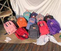 Wholesale purple backpack double shoulder bags resale online - backpack High quality canvas school bag double shoulder bags men and women students bags multicolor available