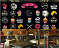 Wholesale painting color for living room for sale - Group buy 3d wallpaper custom photo Simple hand painted color fast food dessert blackboard graffiti room d wall murals wallpaper for walls d