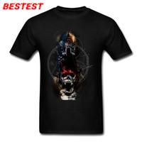 chaqueta muerta caminando al por mayor-2019 camisetas de diseñador para hombre Head Master T shirt Hombres Diseño de Horror Camiseta Walking Dead Skull T Shirts Vintage gótico Hombre Chaquetas de hockey