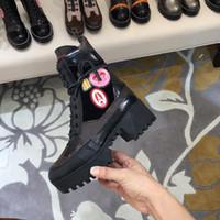 botines de zapatos de cuero al por mayor-Botas de tobillo para mujer de moda Martin Winter Cow Leather Platform Ladies 5cm Tacones altos Zapatos casuales Botines Envío gratis