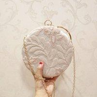 ingrosso sacchetto di crossbody del merletto nero-Le donne ricamano la borsa di sera della decorazione floreale le frizioni del pizzo di cerimonia nuziale del fiore delle signore frizione femminile nera rosa della frizione J190630