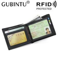 Wholesale gubintu wallets for sale - Group buy GUBINTU New Leather Good RFID Antimagnetic Wallet Head Cowhide European and American Men s Wallet