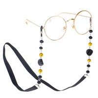 головка для очков оптовых-Fashion Women Sunglass Chain Black Acrylic  Eyeglass Chains Anti-slip Eyewear Cord Holder Neck Strap Reading Glasses Rope