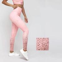 seksi sıska ince tozluk baskısı toptan satış-Seksi Baskılı yoga pantolon yüksek bel streç spor kalça ince tozluk kadın spor Egzersiz pantolon ücretsiz kargo