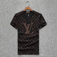 ingrosso shirt nuova immagine di design-T-shirt estiva SS 19 T-shirt firmata, t-shirt traspirante 100% cotone a maniche corte stampata di alta qualità