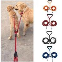 freie leine groihandel-Große Hundeleine Doppelleine für zwei Hunde Nylon-Verwicklung frei Doppel Hund Doppel Leine Koppler für Walking Training Laufen