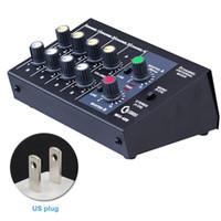 mezcla estéreo al por mayor-Ajuste de la consola de mezcla Panel estéreo Digital Universal Sonido Mezclador de 8 canales Micrófono Karaoke
