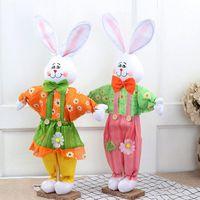 садовый центр оптовых-67 * 38 см милый пасхальный кролик стоя кролик плюшевые куклы для магазинов молл пасхальные праздники украшения костюм для ну вечеринку магазин домашний сад