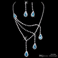 Wholesale bridal crystal sell for sale - Group buy Cheap Best Selling Unique Wedding Bridal Bridesmaids Rhinestone Necklace Earrings Jewelry Set Prom In Stock Hot Sale a