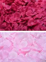 konfeti yaprakları toptan satış-100pcs / lot İpek Gül Yapraklı Petalas Düğün Süsleme Yapay Polyester Çiçek Konfeti 40 Renkler Düğün Dekorasyon Çiçek