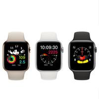 apple iwatch charging toptan satış-Manyetik Adsorpsiyon Kablosuz Şarj Goophone İzle 4 Giyilebilir Akıllı 44mm Bluetooth 4.0 MTK2502C iPhone XS için Max XR S10 S9 iwatch huawei