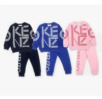 Wholesale kids sweater coats resale online - Classic Fashion new For Boys And Girls jacket Pants Two piec years olde Suit Kids fashion Children s Cotton Clothing Sweater Sets jun34