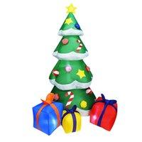 şişme bebek yeni toptan satış-Yeni 2.1m Şişme Noel Ağacı Süsleme Mutlu Noeller Parti Dekorasyon Ev Courtyard Süsleme 3D Yılbaşı Ağacı Doll AB ABD