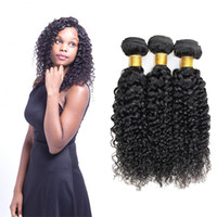Wholesale beauty supply hair weave for sale - Group buy Jerry Curl Weave Peruvian Curly Hair Bundles Weave Remy Human Hair Weft Natural Color For Salon Beauty Supply