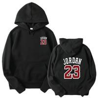 casuais soft hoodies homens venda por atacado-Número 23 com capuz Hoodies Chicago Bulls Pullover Hoodies Men manga comprida macia Hip Hop capuz Outono Suit Sport Ganhos Estilo Treino
