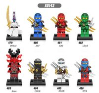 Wholesale jay toy for sale - Group buy Ninja Super Heroes Kai Jay Zane Cole NYA Pythor Lloyd Ninja Children Toys X0143