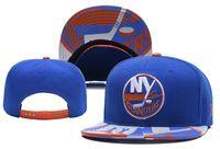 new york beanie hüte großhandel-New York Islanders Eishockey Strickmützen Stickerei verstellbarer Hut Bestickte Hysteresenkappen Grau Blau Genähte Hüte Einheitsgröße