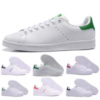 новейшие ботинки оптовых-2019 New Fashion Designer Top Quality Women Men Newest Stan Shoes Smith Casual Shoes Leather classic Flats Size 36-44