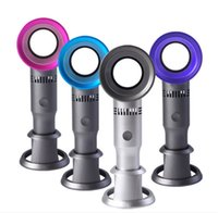 mini taşınabilir el fanları toptan satış-Sıfır9 USB Bladeless Fan Şarj Edilebilir Taşınabilir El Mini Soğutucu Hiçbir Yaprak Handy Fan Ile 3 Fan Hız Seviyesi LED Göstergesi