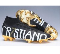 botas de arco iris zapatos al por mayor-Niños Rainbow Superfly Elite CR7 SE FG VI 360 LVL UP Ronaldo Hombres XII 12 Botas de fútbol Mujeres Niños Zapatos de fútbol Botas de fútbol