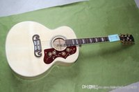 Wholesale acoustic electric guitar free for sale - Group buy ASDFG Custom Shop Hot selling Dot Spruce Beige SJ200 Strings Electric Acoustic Guitar