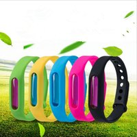 Wholesale mosquito outdoor repellent for sale - Group buy Anti mosquito Bracelets Mosquito Repellent Wristbands Bracelet Silicone Bracelets Wrist Strap Outdoor Pest Control Bracelet Bands E549