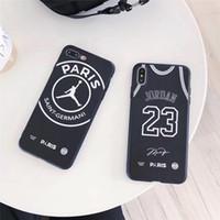 jerseys de pieza al por mayor-Una pieza de la caja del teléfono de lujo para el iPhone XS XR MAX 8 7 Plus 6S Basketball Jersey diseñador Volver cubierta de la caja