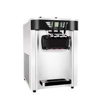 h crema al por mayor-Máquina de helados suaves con sabor a 3 sabores 2400 W Máquina de helados comercial 20-24 / h Máquina de yogur de acero inoxidable con refrigeración por aire