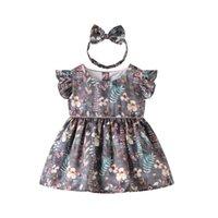 детские юбки оптовых-Девушки платья весна модель сетка платье принцессы платье Printed дети сиамские юбки опт поколение жир