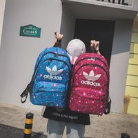 Wholesale male weave for sale - Group buy Adi Shoulder Bag Genuine New Star Printed Clover Campus Backpack Male High Capacity Backpack Travel Backpack Students