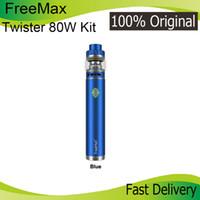 Wholesale vap kits resale online - New Colors Authentic FreeMax Twister W Starter Kit mAh Battery E Cigarette Vap Pen For Original Firemax Tank Mesh Coil Genuine