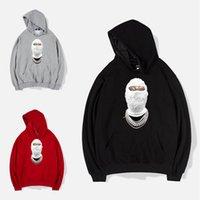 maskierter hoodie großhandel-Neue Maskierte Banditen Hoodie Box Logo Street Sport Mens Designer Hoodies Ninja Stil Loose Fit Pullover Sweatshirt M-XXXL