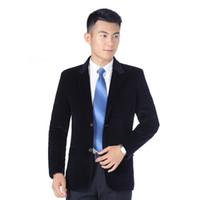 chaqueta de pana negra de los hombres al por mayor-Chaquetas de pana para hombre, hombres, traje de negocios, chaqueta informal, hombres, botonadura sin tirantes, corte slim, negro azul caqui rojo