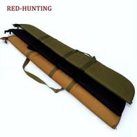 naylon taşıma çantası toptan satış-130 cm Havalı Tüfek Durumda Yumuşak Dolgu ile Dayanıklı Suya Dayanıklı Taktik Askeri Naylon Gun Çanta Koruma Taşıma çantası Sırt Çantası # 28738