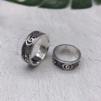 plata esterlina de la vendimia al por mayor-Diseñador de la marca anillos de los hombres Real 925 anillo de plata esterlina personalidad Vintage Car Tire gg anillo Lujo hombres joyería encanto novio Regalos