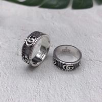 ingrosso marchi 925 gioielli-Gli uomini del progettista di marca squilla l'anello d'argento sterlina di personalità 925 dell'anello d'annata dell'automobile Gg dell'anello degli uomini di lusso dei monili del ragazzo dei regali del fidanzato