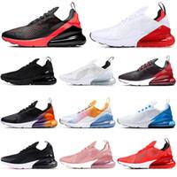hava yastıklı koşu ayakkabıları toptan satış-nike air max 270 2019 erkek kadın koşu ayakkabı YAZ GRADIENTS üçlü beyaz siyah Degrade Fotoğraf Mavi IŞIK KEMIK erkek nefes eğitmen Atletik sneakers