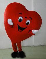 kırmızı kalp maskot kostümleri toptan satış-2020 Yüksek kaliteli Yetişkin Maskot Kostüm Yetişkin Boyutu Fantezi Kalp aşk Maskot Kostüm Kırmızı Kalp