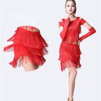 tango latin tanz kleider großhandel-Latin Dance Kleid für Frauen Ballsaal Sumba Tango Latin Dance Rock Lady Kostüme Kleid Rumba Qia Qia Pailletten