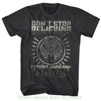 qualität reise großhandel-Männer T-shirt Große Qualität Lustiger Mann Baumwolle Reise Detroit Black Heather männer Kurzarm T-shirt