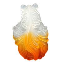 collar colgante de peces de colores al por mayor-Collar fino del colgante del Goldfish de la ágata blanca natural de las mujeres de la joyería fina hecho de la piedra preciosa de la ágata que envía libremente