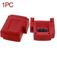 49 batterie großhandel-Stromquelle ABS Werkzeuge Portable Safe Converter Adapter Ersetzen Sie USB-Ladegerät Red Compact für Milwaukee 49-24-2371 M18 Batterie
