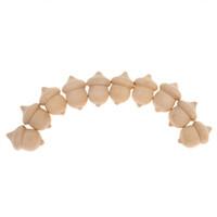 ingrosso ornamenti diy crafts-10pcs decorazione fai da te ornamenti in legno decorazione mestiere incompiuto ghiande in legno festa nuziale