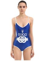 traje de baño franja amarilla al por mayor-Diseñador de verano para mujer Bikini con una nueva marca de trajes de baño para mujeres Traje de baño Traje de una pieza Sexy de lujo sin espalda Ropa de playa S-XL Moda