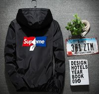 kore şeridi toptan satış-Ceket erkek gençlik eğlence ceketler gelgit yansıtıcı Kore versiyonu şerit baskı ilkbahar ve sonbahar spor ceket erkek ceket