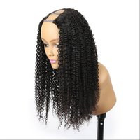 Wholesale burmese curly hair unprocessed for sale - Group buy Kinky Curly U Part Wig Hair Unprocessed Peruvian Hair U part Wigs Kinky Curly U Part Wig For Black Woman