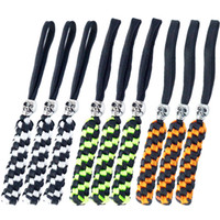 9PCS QingGear Handcrafted Paracord Tactical Knife Lanyard Keychain Tool Lanyard Zipper Pulls with Skull Bead Square Braid Outdoor Gear