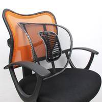 ofis koltuğu yastıkları yastıkları toptan satış-Araba Koltuğu Ofis Koltuğu Arka Yastık Örgü Bel Geri Brace Destek Ev Ofis Araba Koltuğu Sandalye Minderi Masaj Pedi Serin