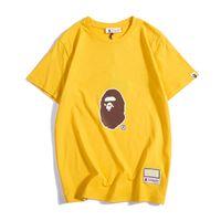 Wholesale woman white t shirt online – design Bape Mens Designer T Shirt Bape Mens Women Designer Short Sleeves A Bathing Ape Men High Quality Cotton T Shirt Size M XXL
